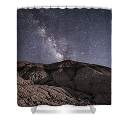 Neopolitan Milkyway Shower Curtain by Melany Sarafis