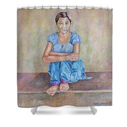 Nepal Girl 4 Shower Curtain