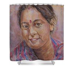 Nepal Girl 6 Shower Curtain