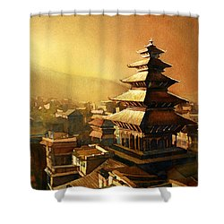 Nepal Temple Shower Curtain