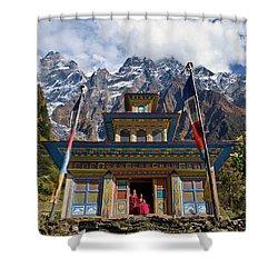 Nepal_d1062 Shower Curtain