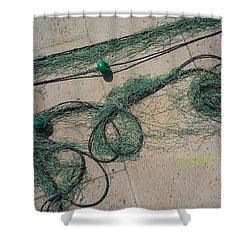 Neptune Green Shower Curtain by Charles Stuart