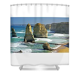 Neptune's Sculptures Shower Curtain by Holly Kempe