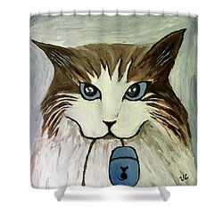 Nerd Cat Shower Curtain