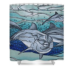 Nereus' Guardians Shower Curtain