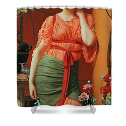 Nerissa Shower Curtain by John William Godward