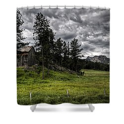 Nestled In The Black Hills Shower Curtain by Deborah Klubertanz