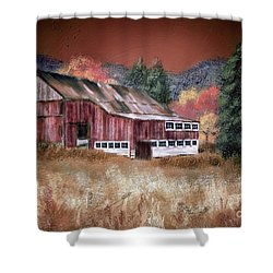 Shower Curtain featuring the digital art Nestled In The Laurel Highlands by Lois Bryan