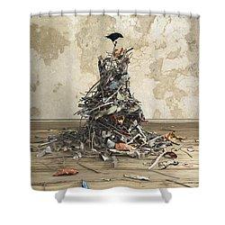 Net Worth Shower Curtain by Cynthia Decker