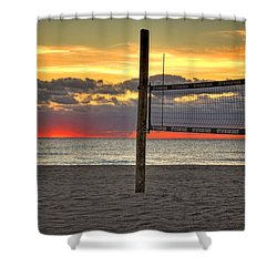 Netting The Sunrise Shower Curtain