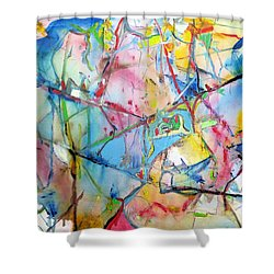 Neuro Roads Shower Curtain
