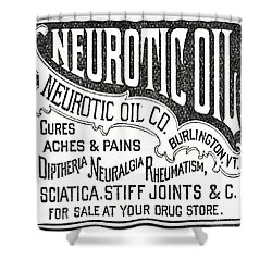 Neurotic Vintage Ad Shower Curtain