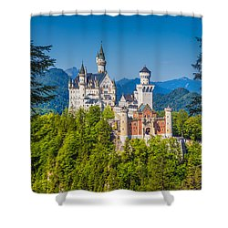 Neuschwanstein Fairytale Castle #2 Shower Curtain