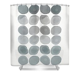 Neutral Stones- Art By Linda Woods Shower Curtain by Linda Woods