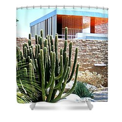 Neutra's Kaufman House 2 Shower Curtain by Randall Weidner