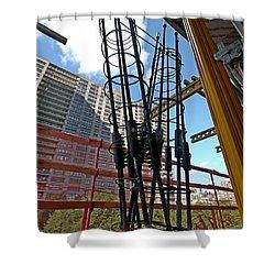 Neuvo Rebar Shower Curtain by Steve Sahm