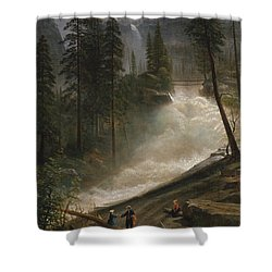 Shower Curtain featuring the photograph Nevada Falls Yosemite                                by John Stephens