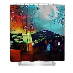 Shower Curtain featuring the digital art Never Alone  by Yul Olaivar