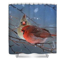Never Alone Shower Curtain
