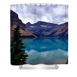 Bow Lake, Banff, Ab  Shower Curtain by Heather Vopni