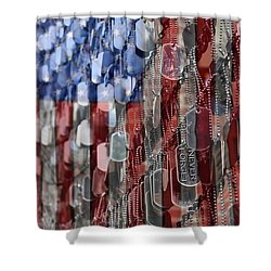 Shower Curtain featuring the photograph Never Forget American Sacrifice by DJ Florek