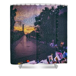 Shower Curtain featuring the photograph Never Forget by Edward Kreis