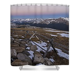 Shower Curtain featuring the photograph Never Summer Range by Gary Lengyel