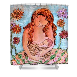 Never Tired To Look At You Shower Curtain by Gioia Albano