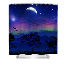 Shower Curtain featuring the photograph Neverending Nights by Bernd Hau