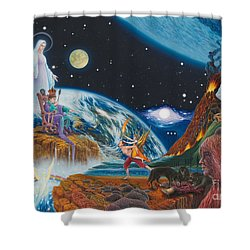 New Age  Shower Curtain