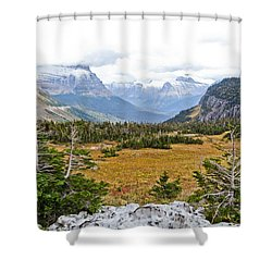 New And Old Snow Shower Curtain by Dan Dooley