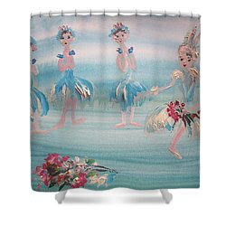 Shower Curtain featuring the painting New Ballet Curtain Call by Judith Desrosiers