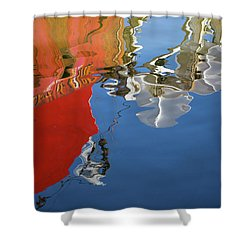 Shower Curtain featuring the photograph New Bedford Waterfront Xxviii Color by David Gordon