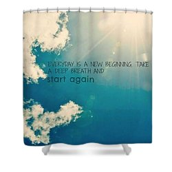 Shower Curtain featuring the photograph New Beginning by Artists With Autism Inc