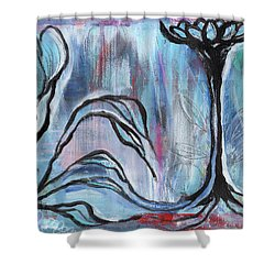 New Beginnings Shower Curtain by Angela Armano