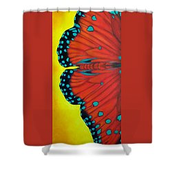 Shower Curtain featuring the painting New Beginnings by Susan DeLain