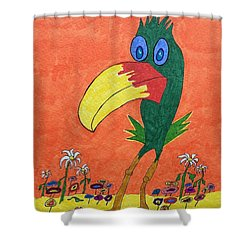 New Bird On The Block Shower Curtain