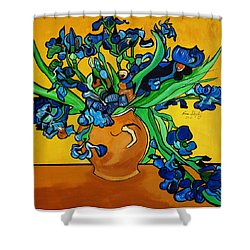 New Blue By You Shower Curtain by Nora Shepley