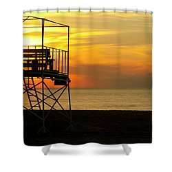 New Buffalo Lifeguard Shower Curtain