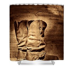 New Cowboy Boots Shower Curtain