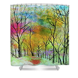 New Dawn New Day New Life Shower Curtain