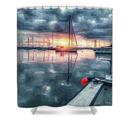 New Dawn Owen Park Shower Curtain