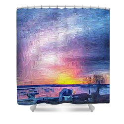 New Dawn Vineyard Haven Shower Curtain