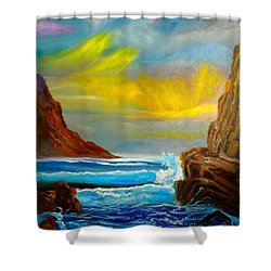 New Day In Paradise Shower Curtain