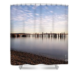 New Day In The Bay Shower Curtain