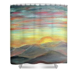 Shower Curtain featuring the painting New Day by Lisa DuBois