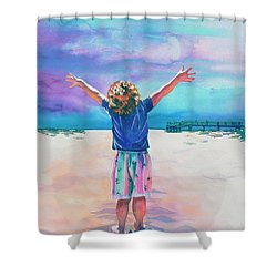 New Day Shower Curtain by Maureen Dean