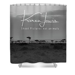 Shower Curtain featuring the photograph New Day On The Mara by Karen Lewis