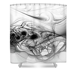 New Directions - Black And White Modern Abstract Art Shower Curtain