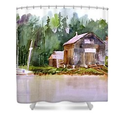 New England Boat Repair Shower Curtain